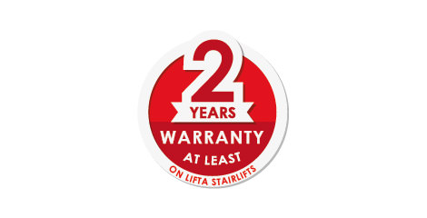 2 years warranty at least on Lifta Stairlifts