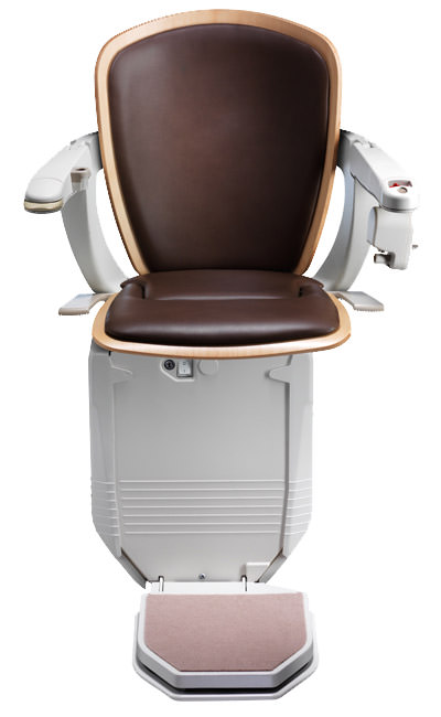 Stairlift Starla cocoa with light wood