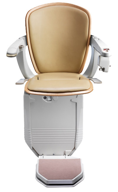 Stairlift Starla cream with light wood