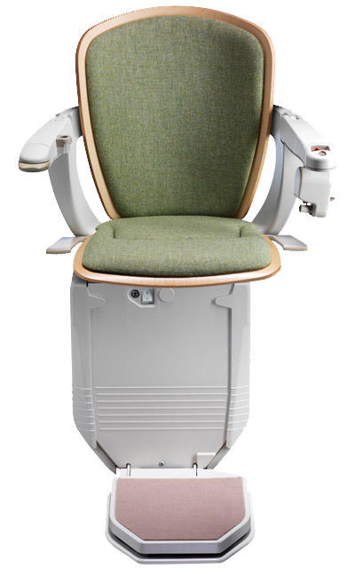 Stairlift Starla green with light wood