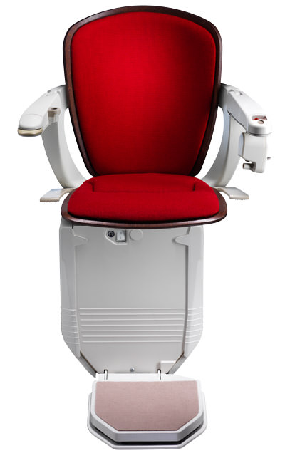 Stairlift Starla red dark wood