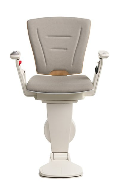 Stairlift Vario natural wood grey fabric